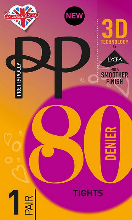 Pretty Polly 80 den 3D Opaque ATG6