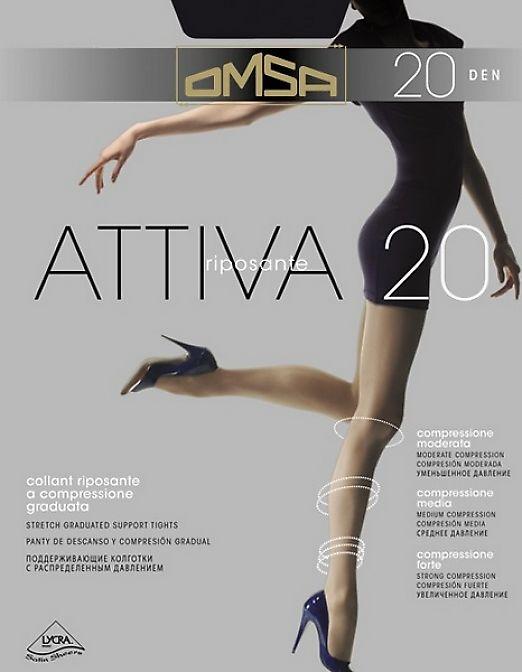 Поддерживающие колготки с распределенным давлением Omsa Attiva 20
