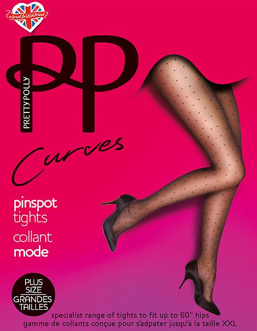 Pretty Polly Curves Pinspot Tights AUN4