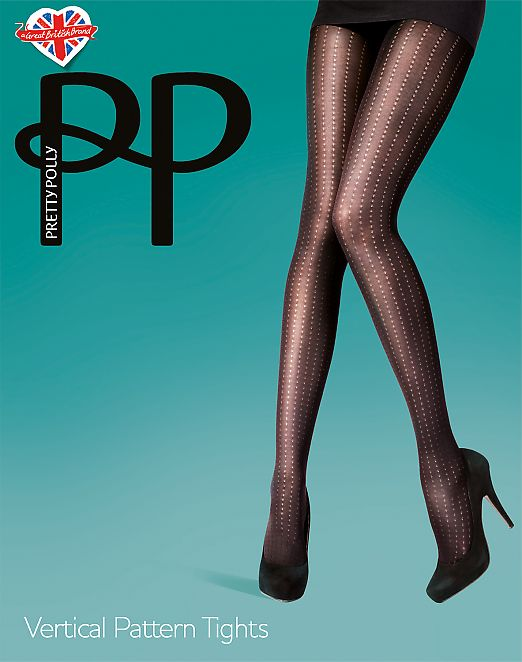 Pretty Polly Vertical Pattern Tights AUZ1