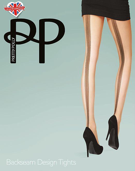 Pretty Polly Beackseam Design tights AVG3
