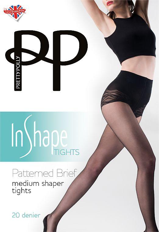 Pretty Polly Patterned Brief Medium Shaper Tights AVS9