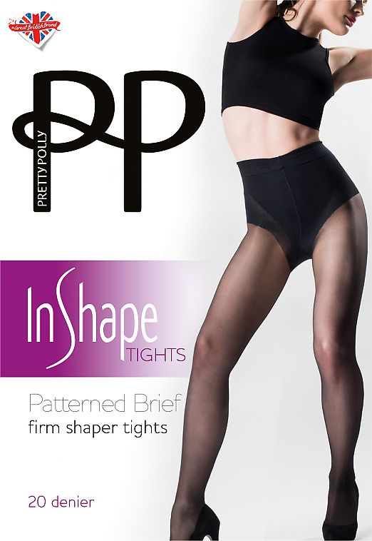 Pretty Polly Patterned Brief Firm Shaper Tights AVT1