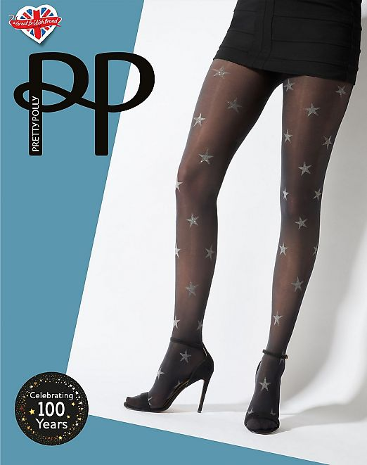 Pretty Polly Star Print Opaque Tights AWA7