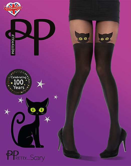 Pretty Polly Scary Cat Tights AWD3