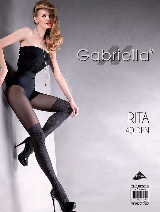 Фантазийные колготки с имитацией чулок Gabriella Rita