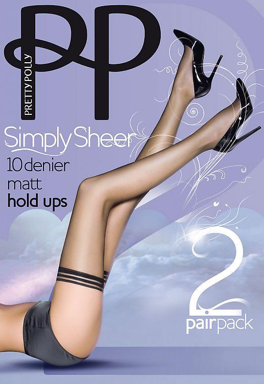 Pretty Polly Simple Sheer 10 den matt hold ups 2PP EPA3