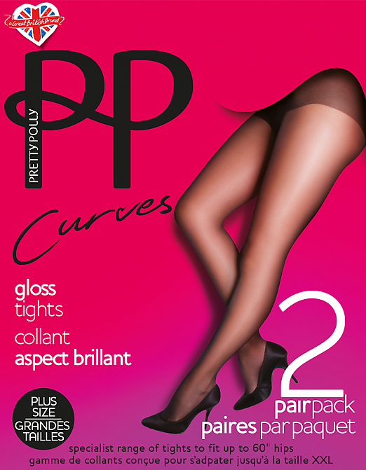 Pretty Polly Curves gloss tights EUN3