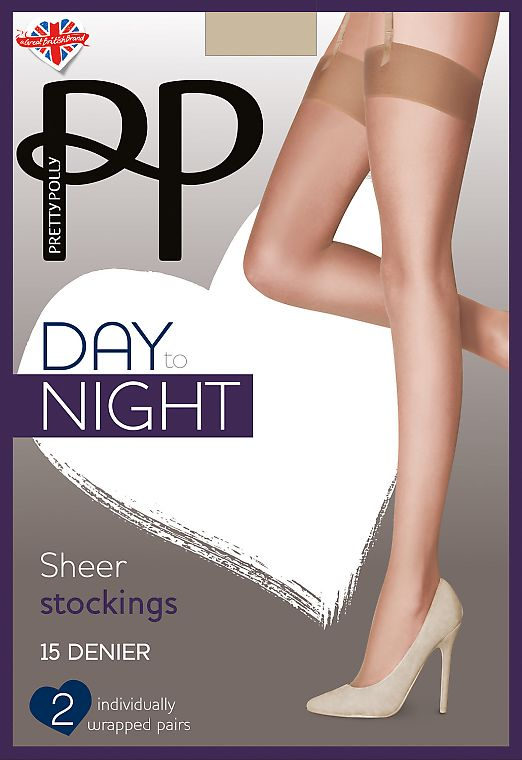 Pretty Polly Day to Night Sheer Stockings 15 den EVH4