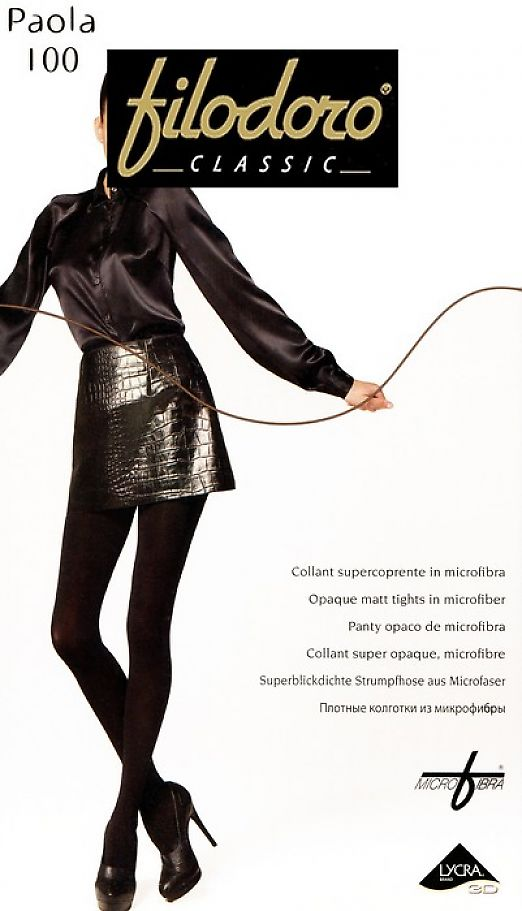 Теплые колготки с микрофиброй Filodoro Classic Paola 100