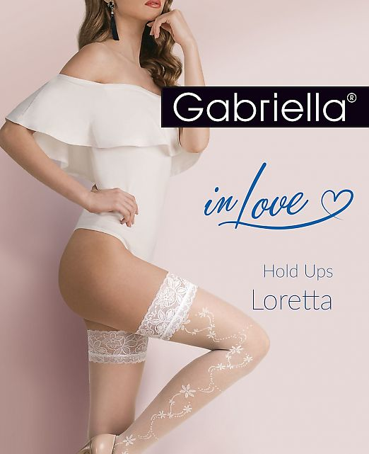 Чулки с резинкой Gabriella 477 Loretta