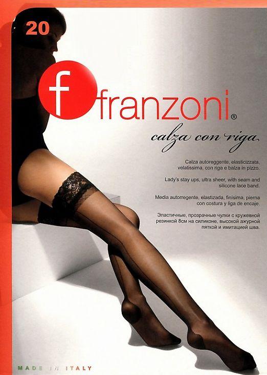 Чулки со швом Franzoni Calza Con Riga