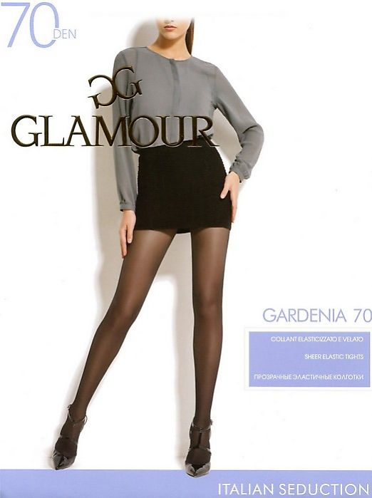 Плотные полупрозрачные колготки Glamour Gardenia 70