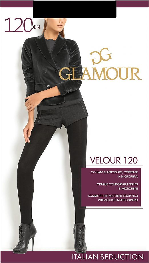 Колготки с микрофиброй Glamour Velour 120