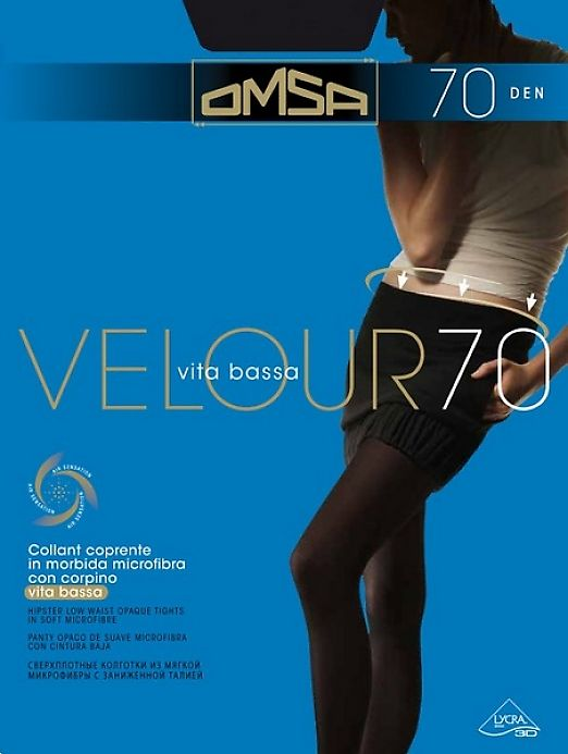 Плотные колготки Omsa Velour 70 Vita Bassa