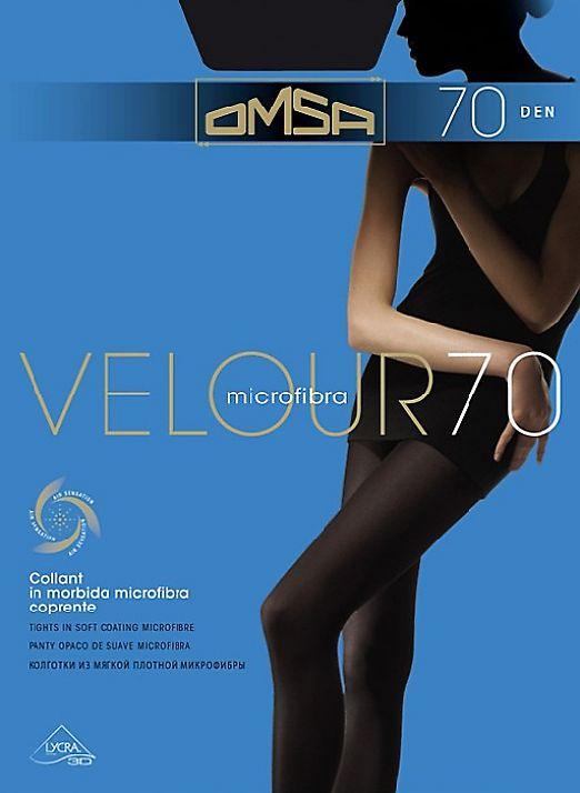 Плотные колготки с микрофиброй Omsa Velour 70