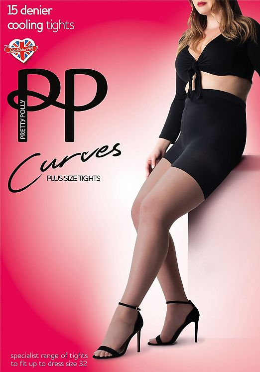 Pretty Polly Curves Plus Size Tights AVY5