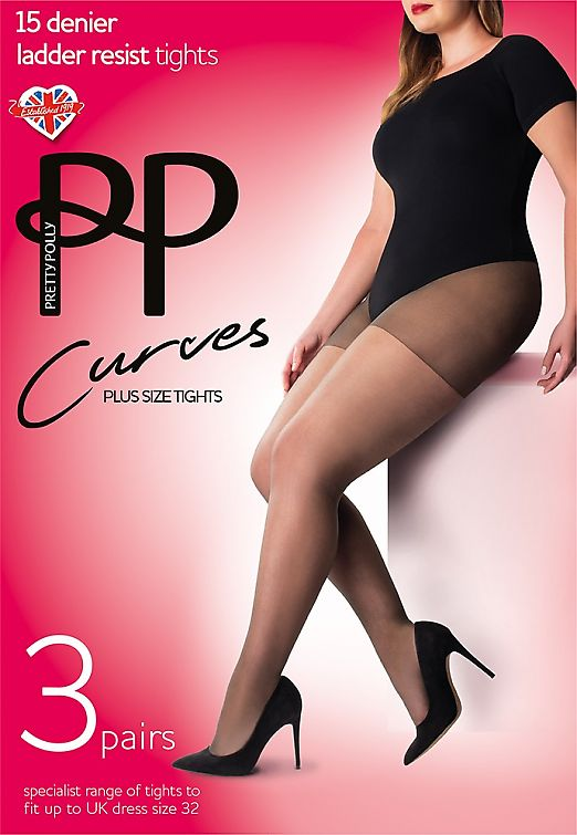 Pretty Polly Curves 15 den ladder resist 3PP GK30