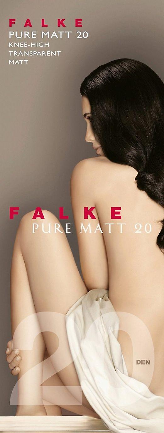Falke Pure Matt 20 Knee-High