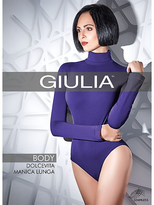 Женское боди Giulia Body Dolcevita Manica Lunga