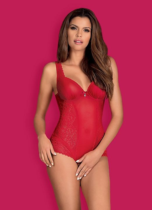 Боди Obsessive Rougebelle Teddy
