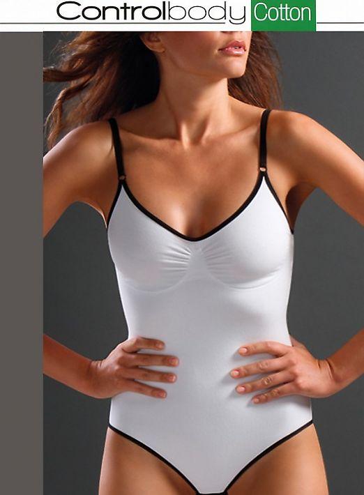 корректирующее белье Controlbody Body Spalla Larga Cotton