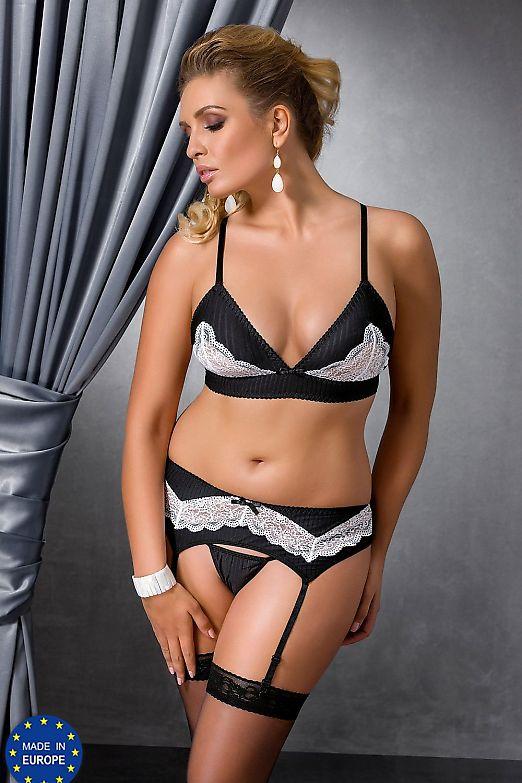 Passion Size Plus Camille set Black
