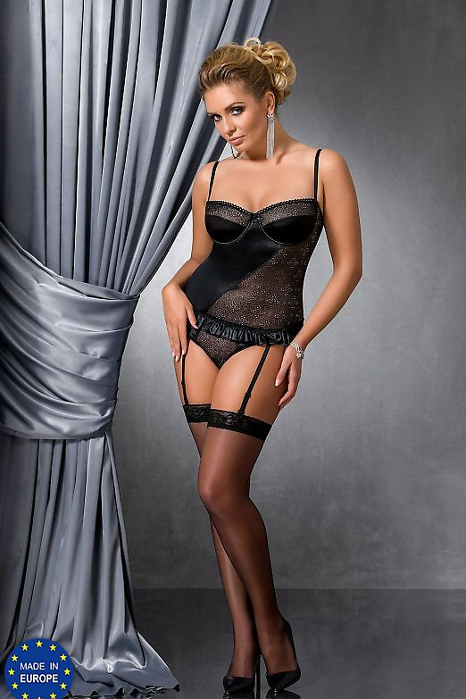 Passion Size Plus Carolyn corset Black