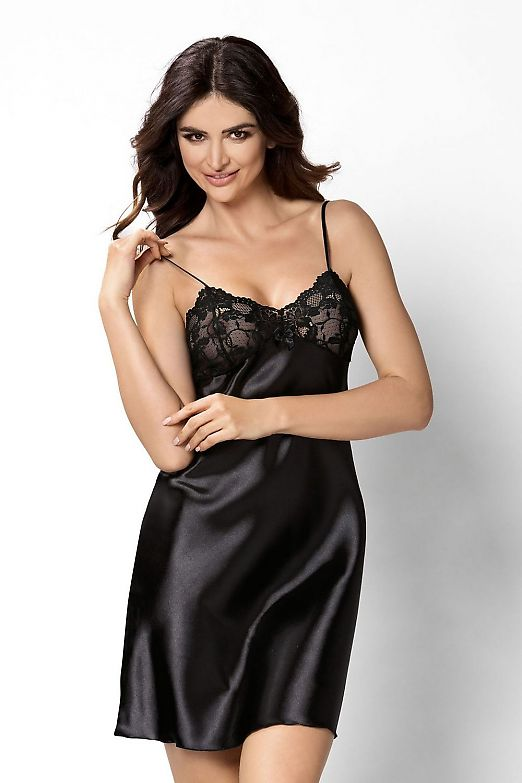 Donna Aisha nightdress Black