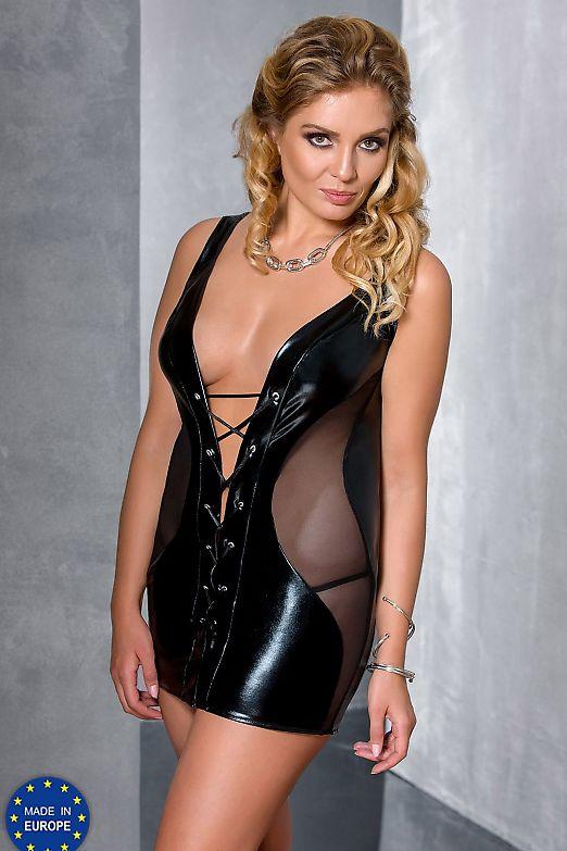 Passion Size Plus Donata chemise Black