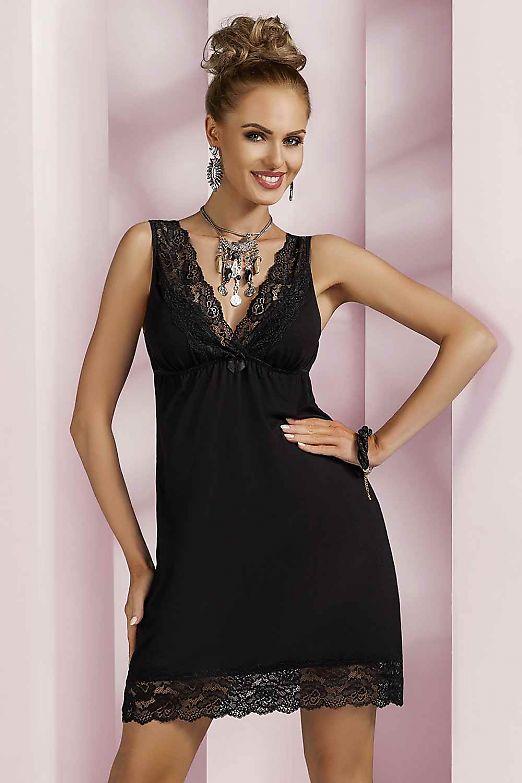 Donna Nadia nightdress Black