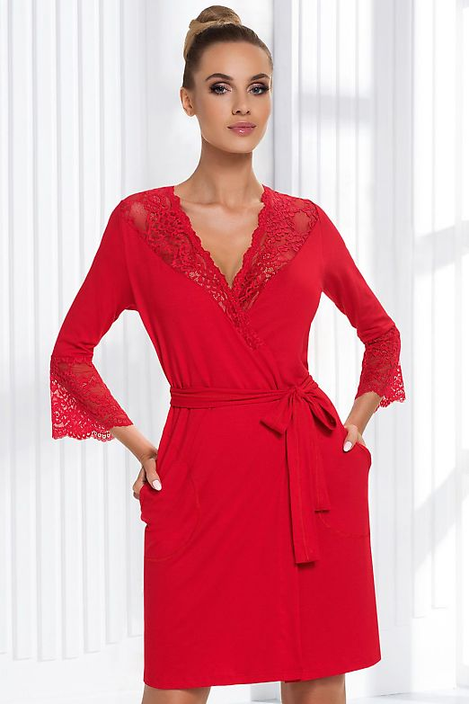 Donna Stella dressing gown Red