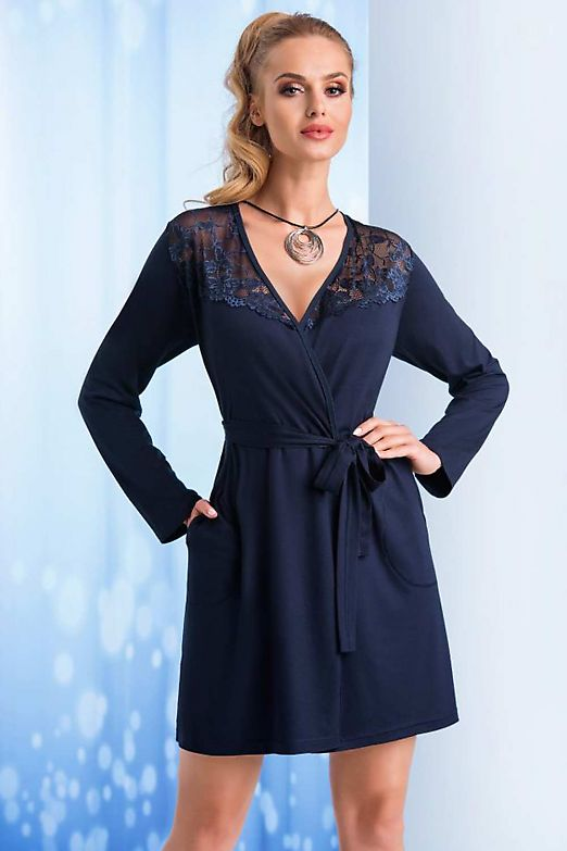 Donna Taylor dressing gown Dark Blue