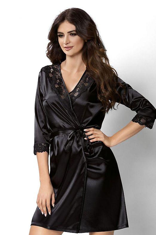 Donna Venus dressing gown Black
