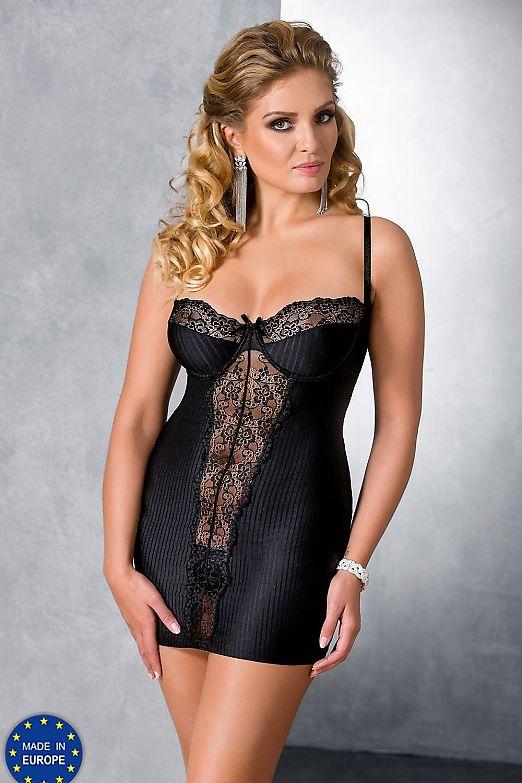 Passion Size Plus Zoja chemise Black