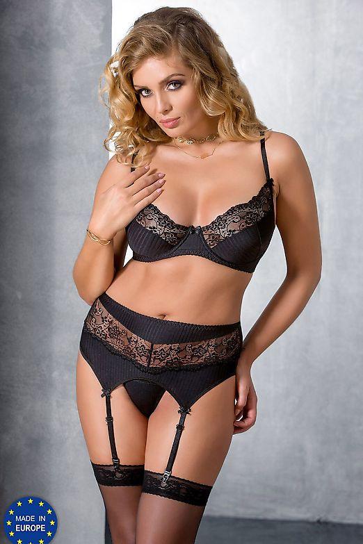 Passion Size Plus Zoja set Black
