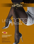 Колготки больших размеров с хлопком Omsa Lasticotton XL