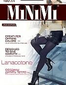Теплые колготки с шерстью и хлопком MiNiMi Lanacotone 180