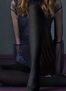 Колготки с нежной текстурой в полоску Fiore Catwoman