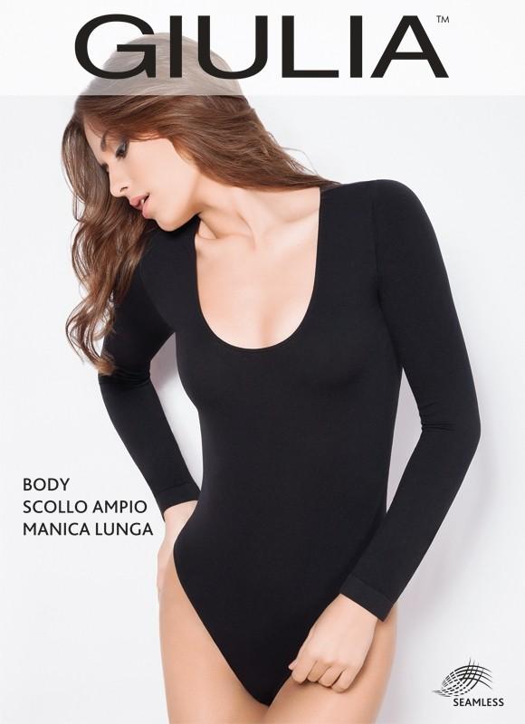 Боди Giulia Body Scollo Ampio Manica Lunga